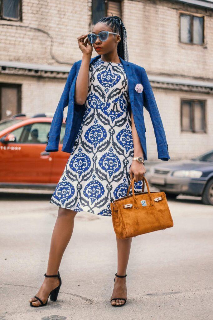 outfit culoare albastra